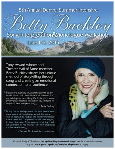 Betty Buckley Denver Workshop